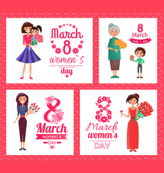 8 march womens day collection vector image