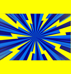 Abstract blue comic cartoon style halftone zoom vector