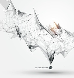 Abstract graphic consisting of points lines and vector image