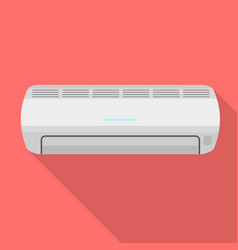 air conditioner icon flat style vector image