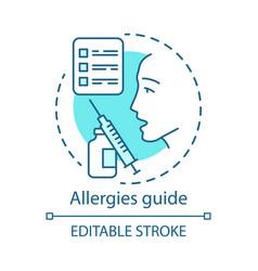 allergies guide concept icon allergic disease vector image