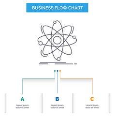 atom science chemistry physics nuclear business vector image