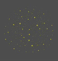 background with gold stars hand drawn vector image