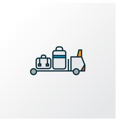 Baggage transfer icon colored line symbol premium vector