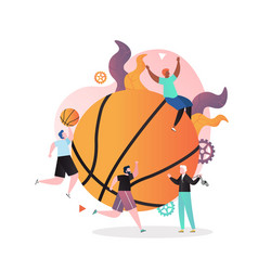 basketball concept for web banner website vector image