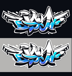 big up graffiti lettering vector image