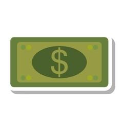 bills dollars money isolated icon vector image