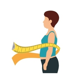 Body female with tape measure vector