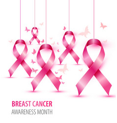 Breast cancer awareness concept pink vector