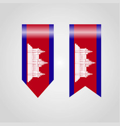 cambodia flag design vector image