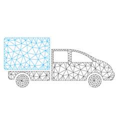 cargo polygonal frame mesh vector image