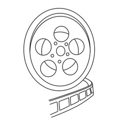 Cartoon image of film reel vector