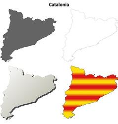 Catalonia blank outline map set - Catalan version vector