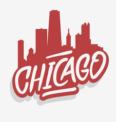 chicago illinois usa cityscape city skyline urban vector image
