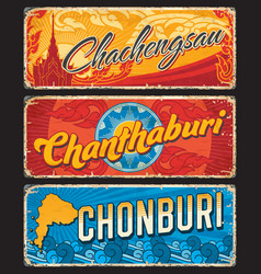 chonburi chanthaburi chachegsau thailand provinces vector image