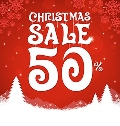 Christmas Sale 50 Percent vector image