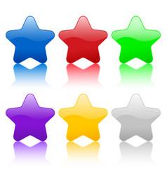 color stars icon vector image