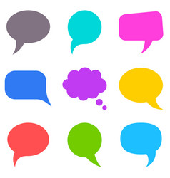 colorful speech bubbles collection vector image vector image