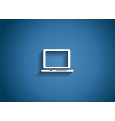 Computer Glossy Icon vector