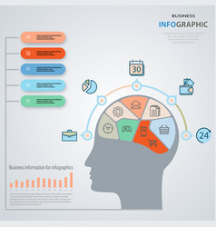 concept of business man infographics marketing vector image