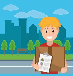 Delivery service cartoon vector