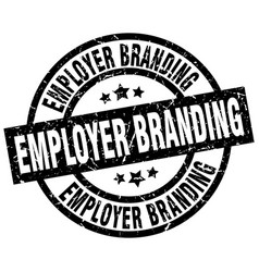 Employer branding round grunge black stamp vector