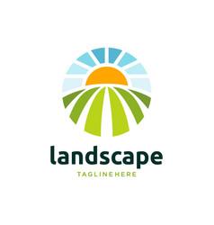 Farm logo symbol design vector