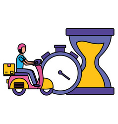 fast delivery logistic vector image