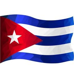 Flag CUBA vector