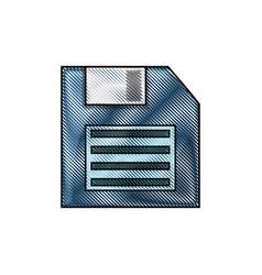 floppy diskette icon vector image