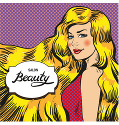 For beauty salon retro pop vector