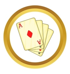 Four aces playing cards icon vector image