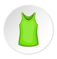 Green men t-shirt icon cartoon style vector image