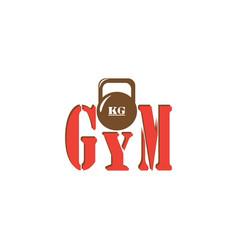 Gym kettlebell iron weight for equipment vector