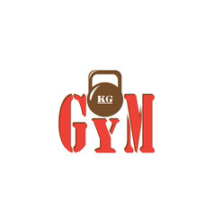 Gym kettlebell iron weight for gym equipment vector