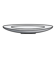 isolated plate design vector image