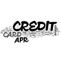 it s easy to find a apr credit card text vector image