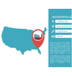 Jacksonville map infographic vector