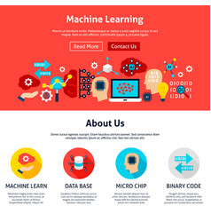machine learning website design vector image