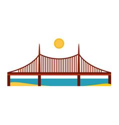 modern bridge flat pictogram business architecture vector image