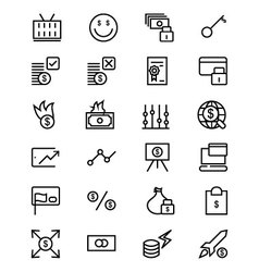 Money Line Icons 4 vector