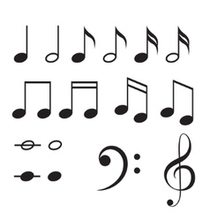 Music notes icon set vector