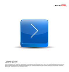 next arrow icon - 3d blue button vector image