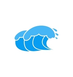 Ocean wave with foam icon simple style vector