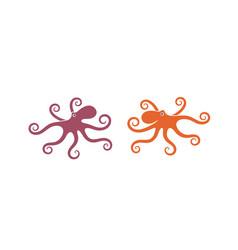 octopus set vector image