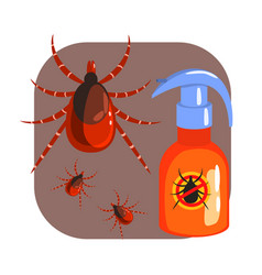 Orange sprayer mite or tick insecticide and vector