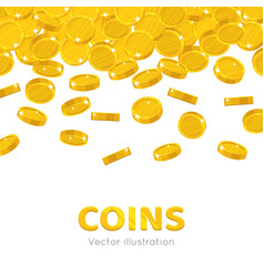 Raingold coins cartoon frame vector
