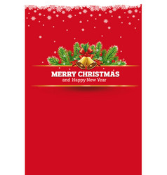 Red christmas background greeting card vector