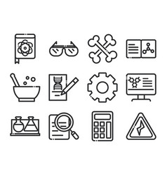 science and research laboratory study icons vector image