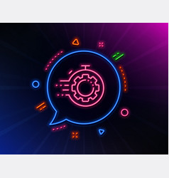 seo timer line icon settings cogwheel sign vector image